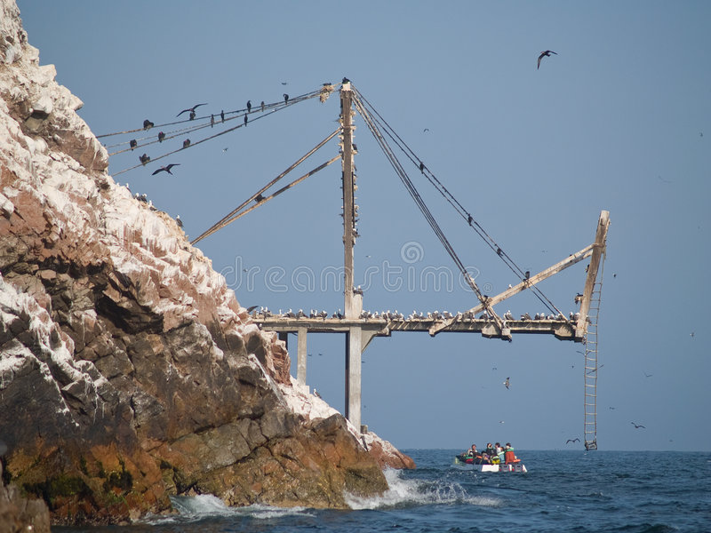 Download Guano Collection Structures At Islas Ballestas In Stock Photo - Image: 4063062
