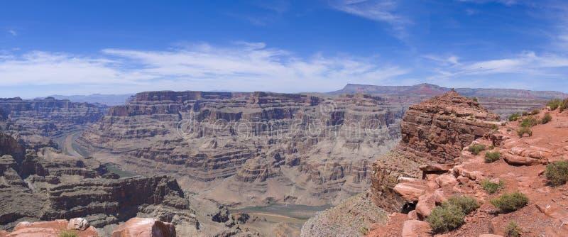 Guano Point Grand Canyon Panorama stock photo