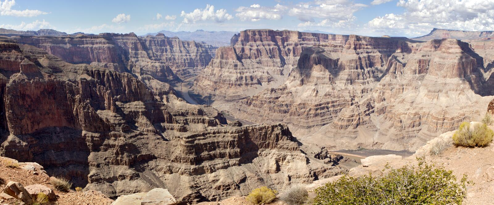 Guano Point - Grand Canyon (west rim) stock photography