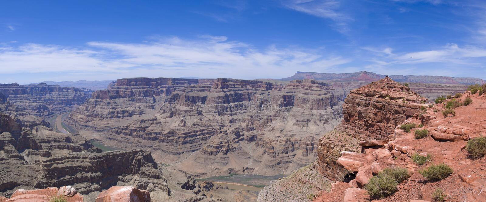 Guano-Punkt-Grand- Canyonpanorama stockfoto