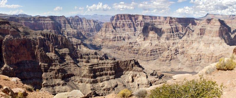 Guanopunkt - (panorama-) Grand Canyon, fotografering för bildbyråer
