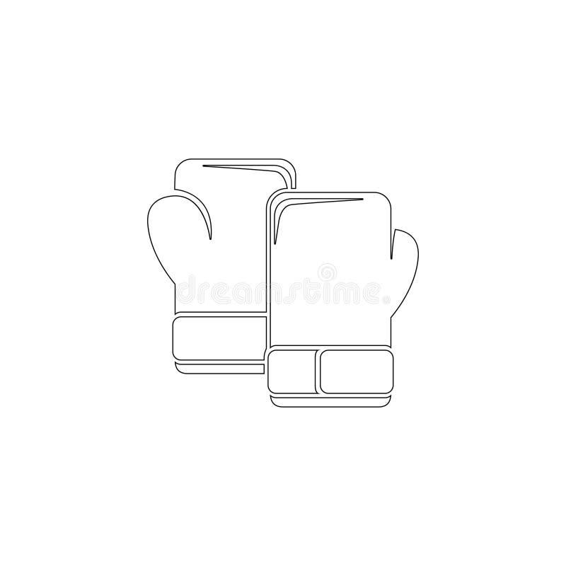 Guantes de boxeo Icono plano del vector ilustración del vector