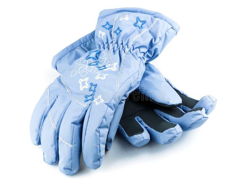 Guanti del blu di inverno immagine stock libera da diritti