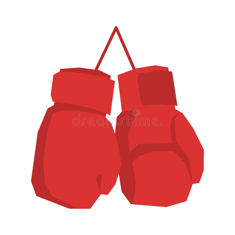Guanti di inscatolamento rossi isolati Mette in mostra gli accessori su bianco royalty illustrazione gratis