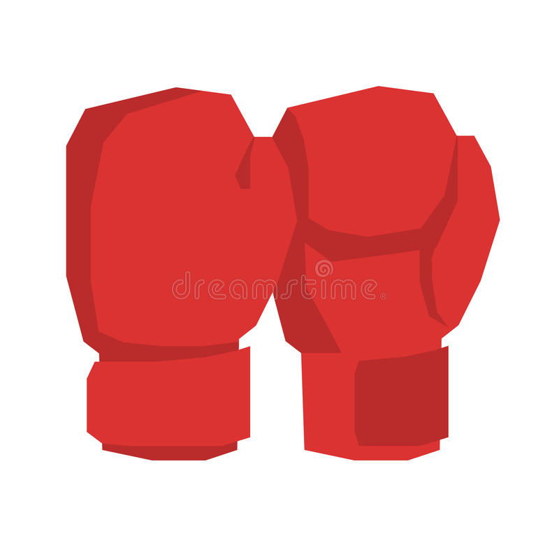 Guanti di inscatolamento rossi isolati Mette in mostra gli accessori sul backgrou bianco illustrazione vettoriale