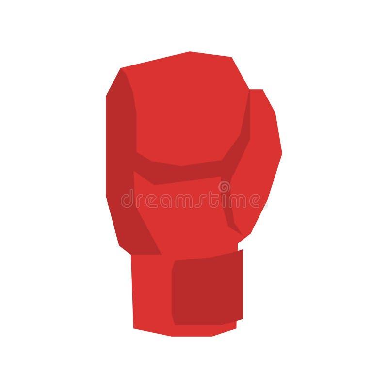 Guanti di inscatolamento rossi isolati Mette in mostra gli accessori sul backgrou bianco illustrazione di stock