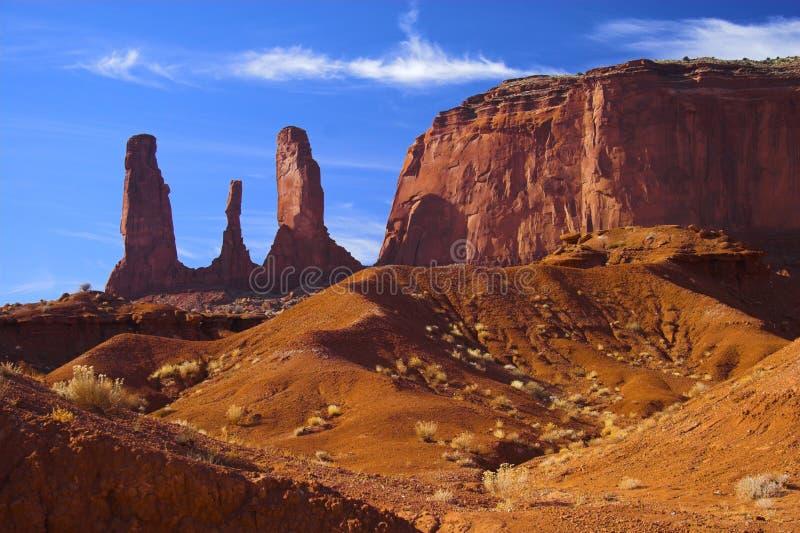 Guanto del primo piano in deserto rosso immagini stock