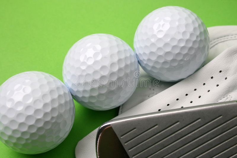 Guanto di golf fotografie stock libere da diritti