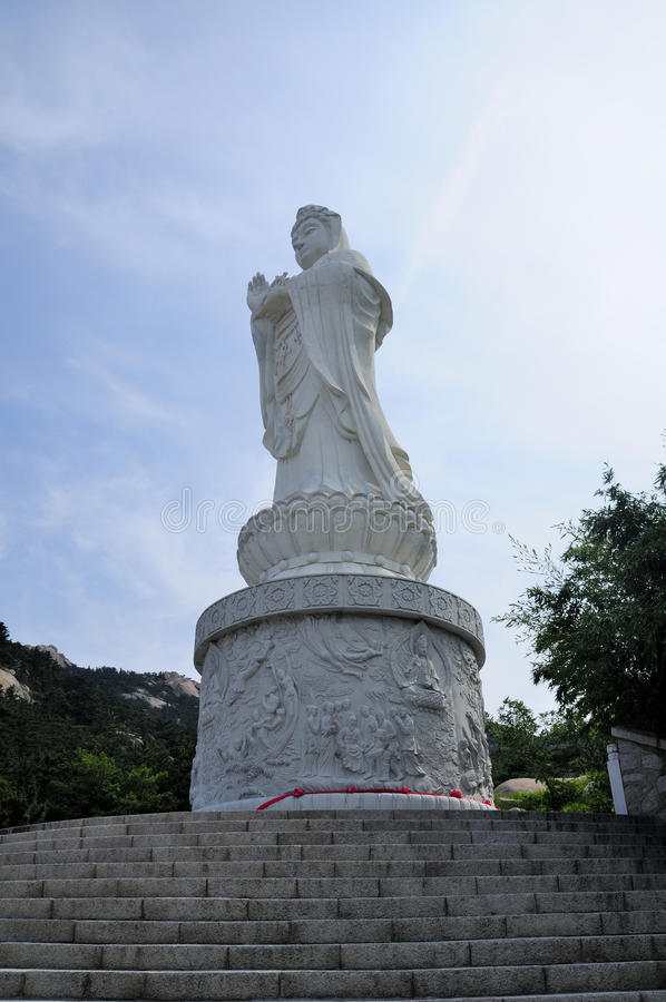 Guanyin Boedha Qingdao China royalty-vrije stock foto