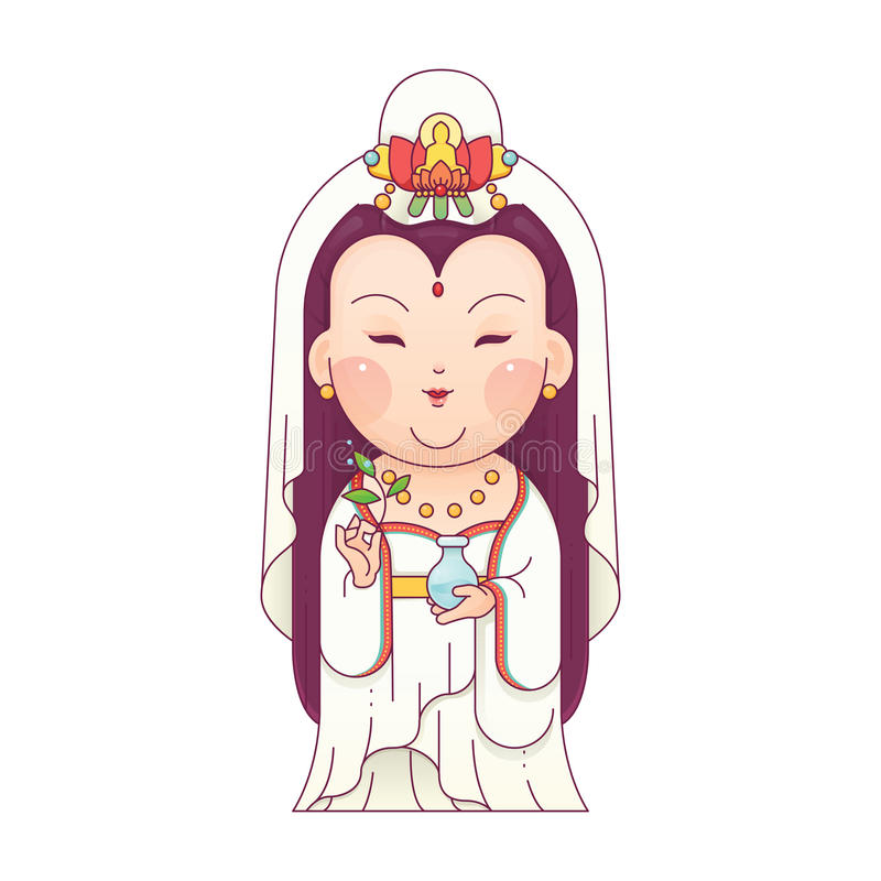 Guanyin bogini litość zdjęcia stock