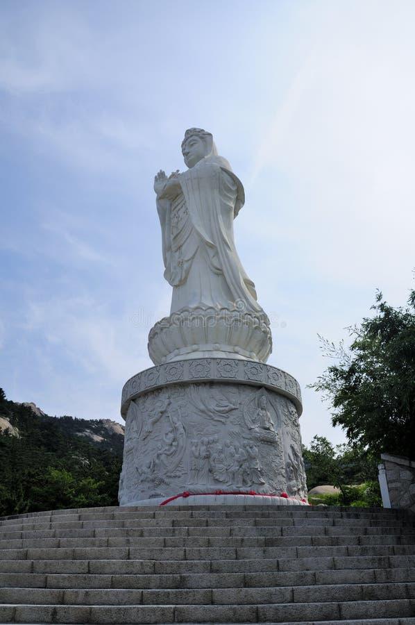 Guanyin Buddha Qingdao Kina royaltyfri foto