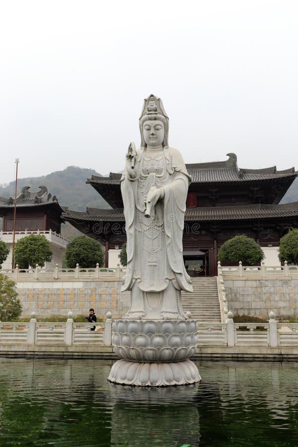 Guanyin empiedra la talla de la universidad de Zhejiang Buda, adobe rgb fotos de archivo libres de regalías