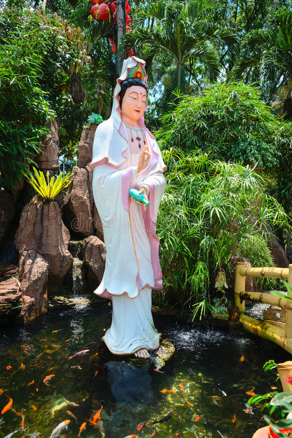 Download Guanyin Goddess Statue In Chinese Temple Editorial Stock Photo - Image: 98764348