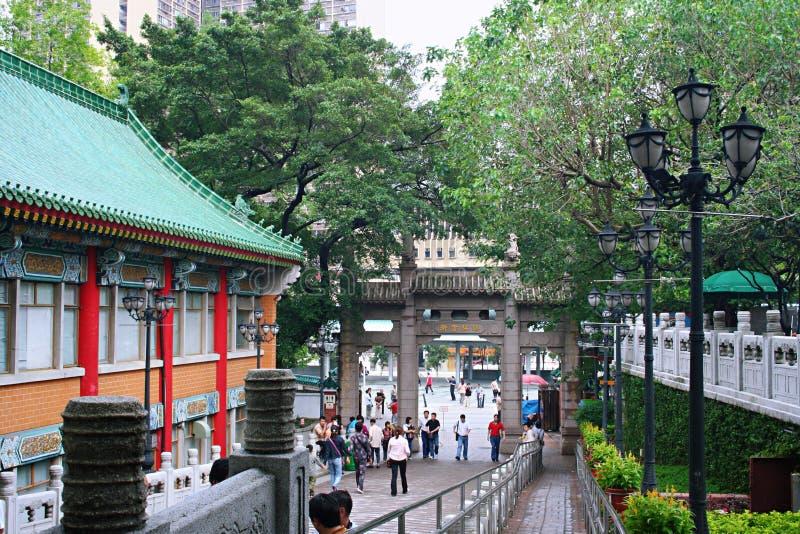Guanyintempel in Tsin-Yun berg, Hongkong royalty-vrije stock fotografie