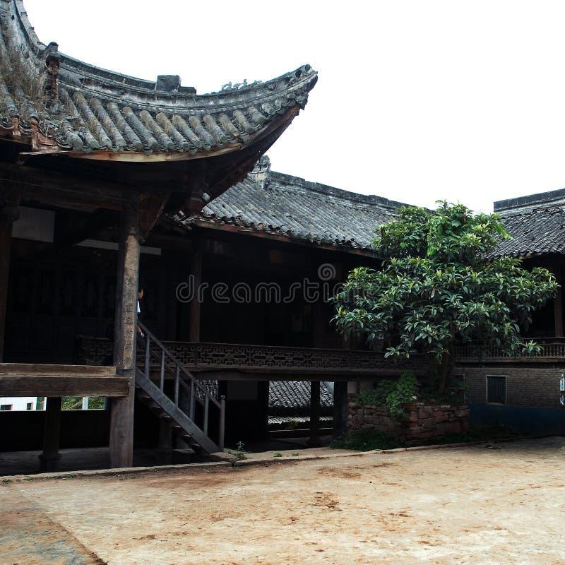 Guanyu saint temple quadrangle royalty free stock images