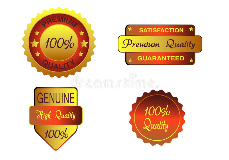 Guaranted quality labels Vector royalty free illustration