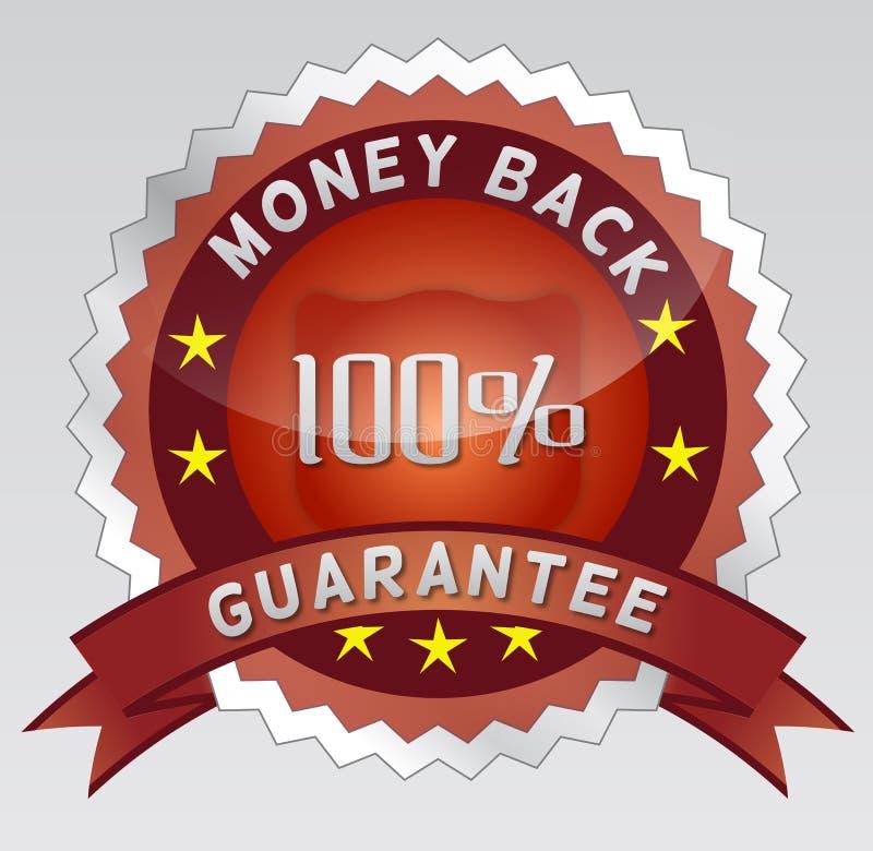 Guarantee 100% money back vector illustration