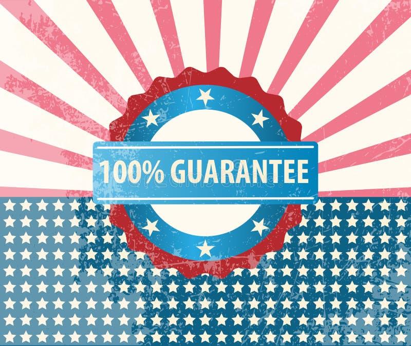 100% guarantee badge royalty free illustration