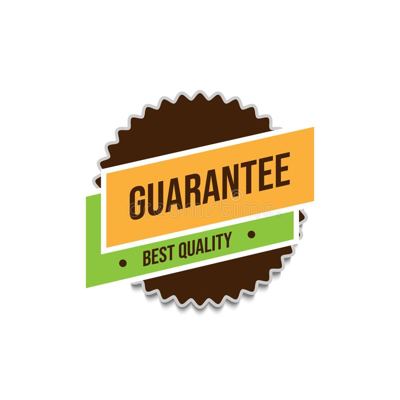 Guarantee best quality tags badge vector image design template. Satisfaction guarantee of best quality badge tags vector design image template vector illustration