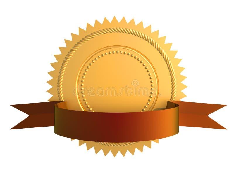 Guarantee gold seal royalty free illustration
