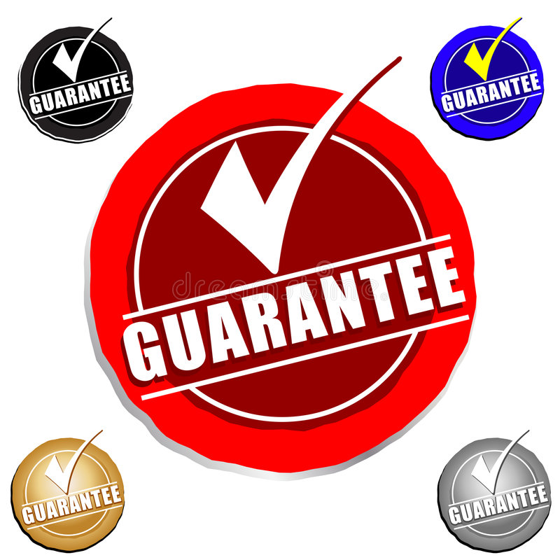 Guarantee Icon. Complete color match. Vector Art