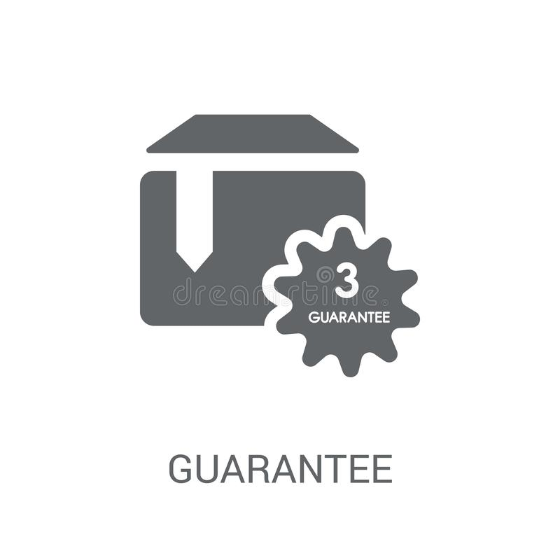 Guarantee icon. Trendy Guarantee logo concept on white background from Delivery and logistics collection vector illustration