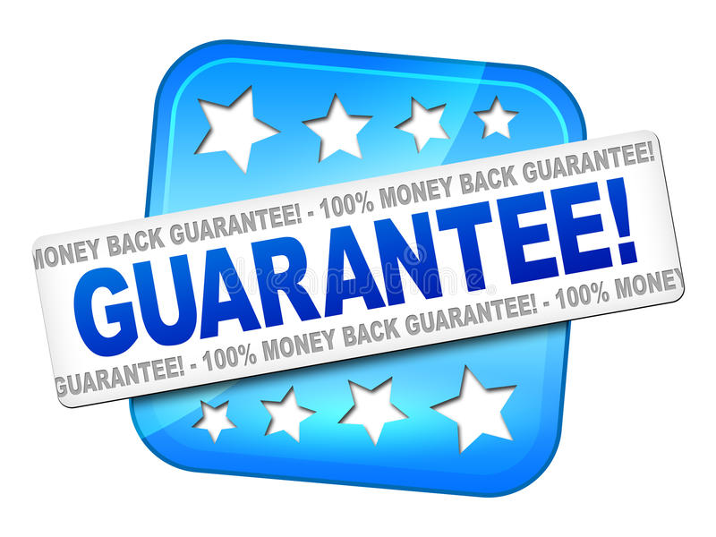 Guarantee. An image of a nice guarantee sign for your website royalty free illustration
