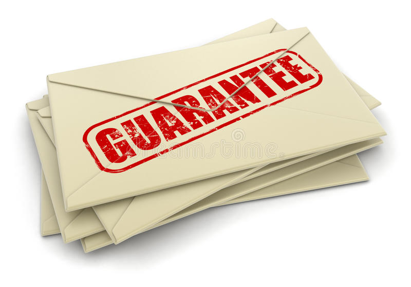 Download Guarantee Letters  (clipping Path Included) Stock Illustration - Image: 33662062
