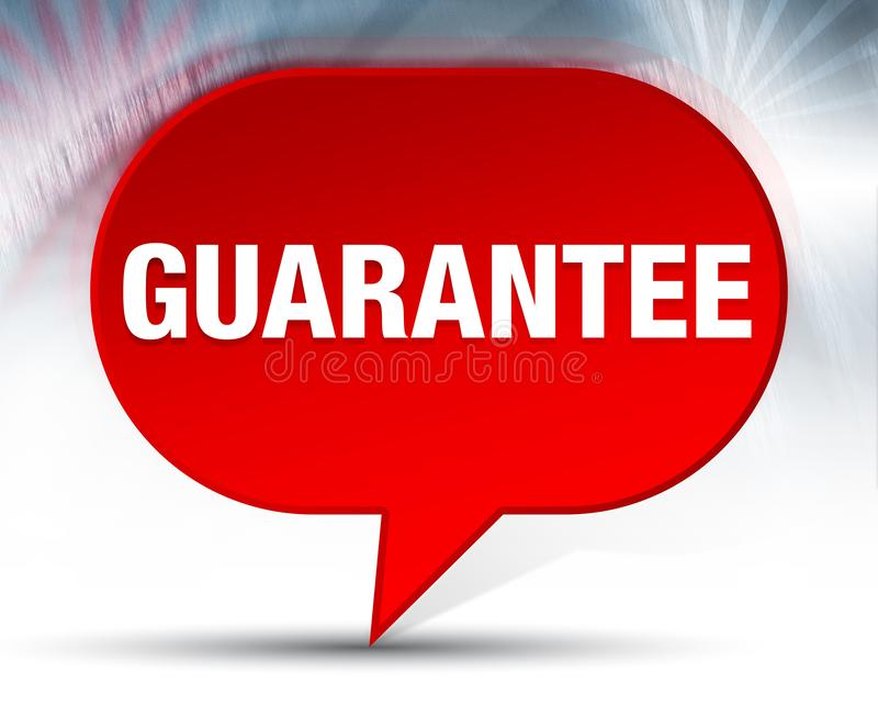 Guarantee Red Bubble Background. Guarantee Isolated on Red Bubble Background vector illustration