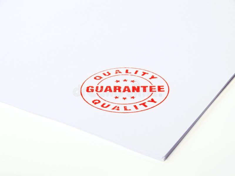 Guarantee Rubber stamp