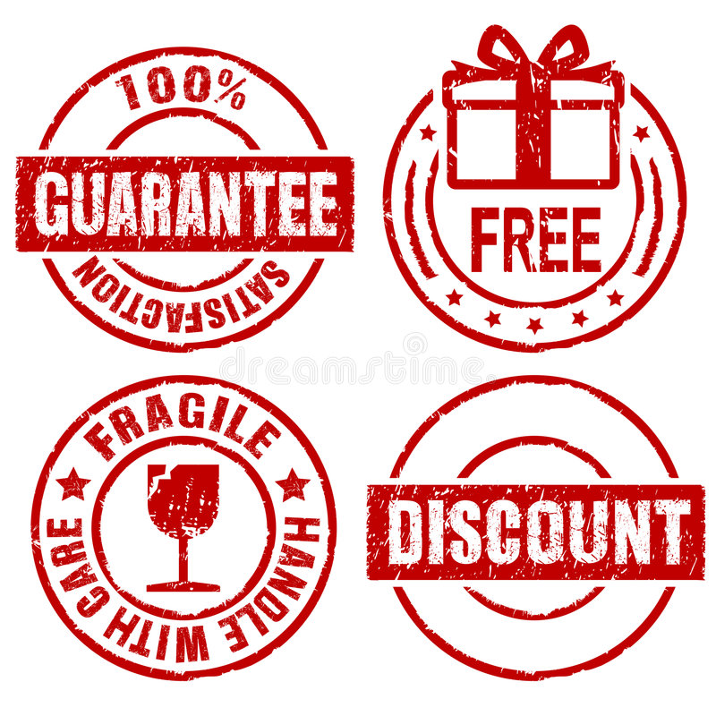 Guarantee rubber stamps II vector illustration
