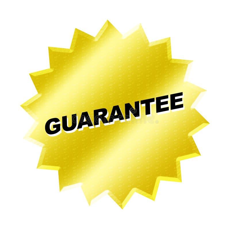 Guarantee Sign. Yellow guarantee sign - web button - internet design vector illustration