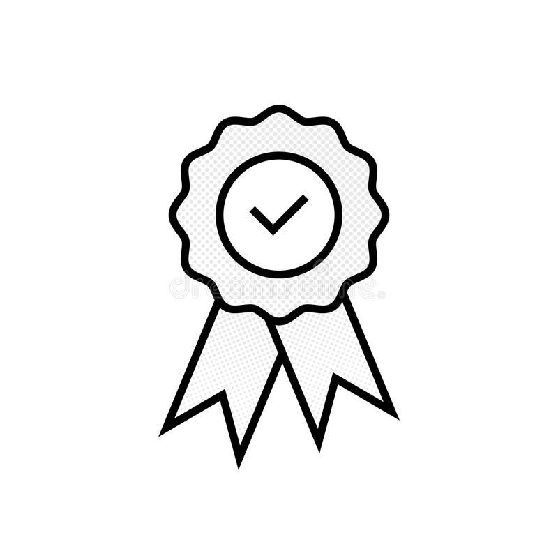 Guaranty  certificate medal with approved. Guaranty  certificate medal with approved  for web shop vector eps10. Approved medal icon with dots. Quality or royalty free illustration