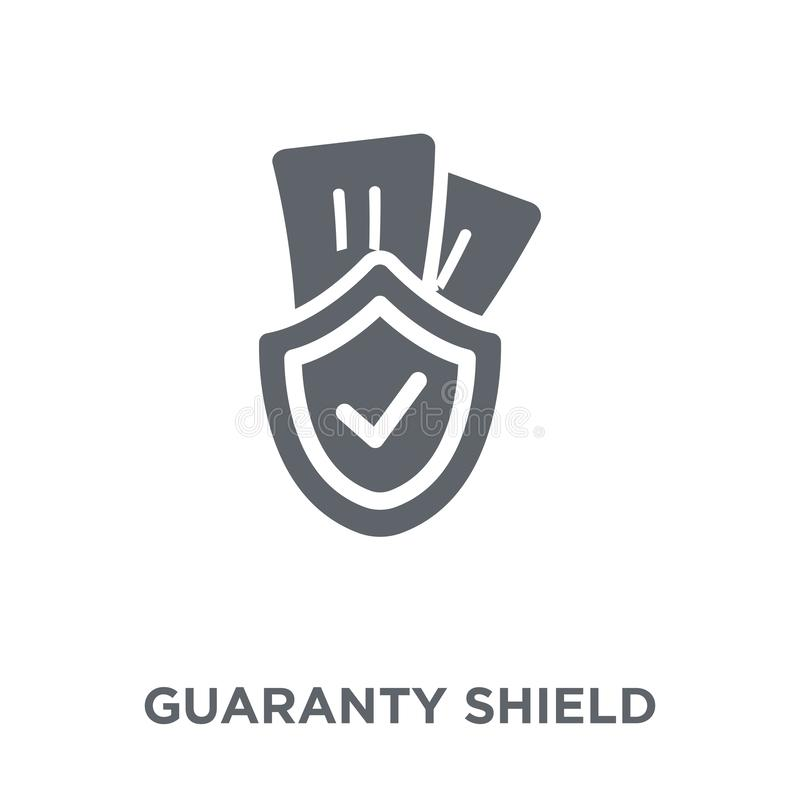 Guaranty Shield icon from Ecommerce collection. Guaranty Shield icon. guaranty Shield design concept from Ecommerce collection. Simple element vector vector illustration