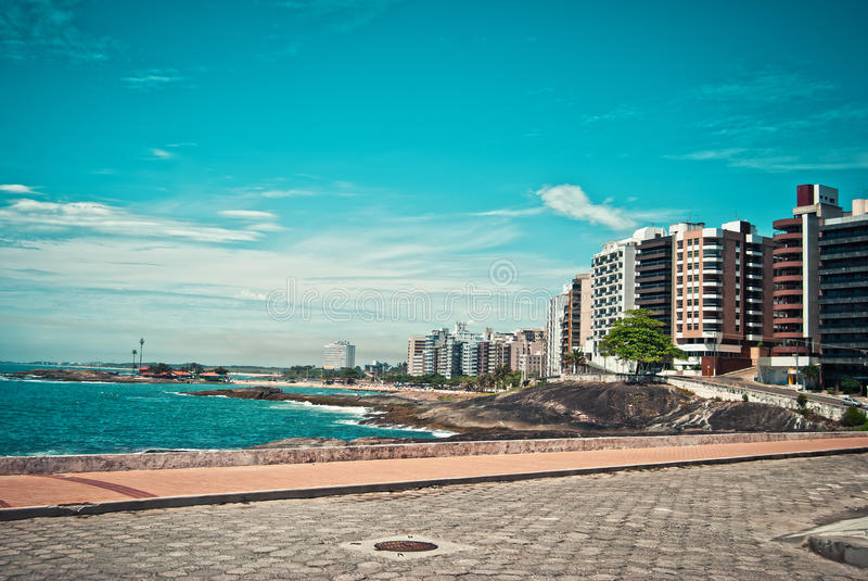 Guarapari - Brazil. Guarapari city on the brazilian coast State of Espirito Santo royalty free stock photos