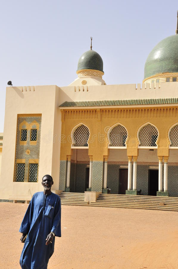 Free Guard At The Entrance Of The Niamey Grand Mosque Royalty Free Stock Photos - 18600208
