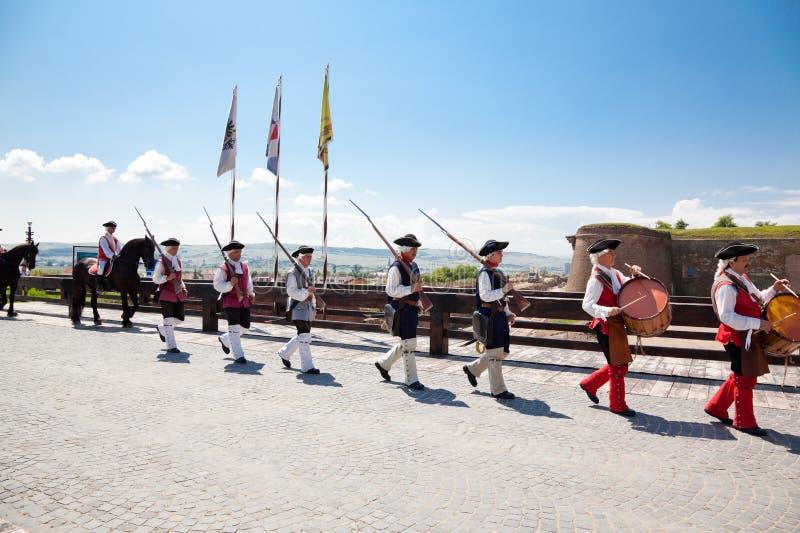 The guard change at Alba Iulia Fortress
