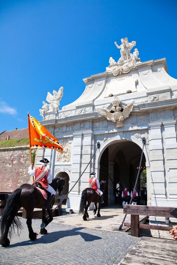 The Guard Change At Alba Iulia Fortress Editorial Image
