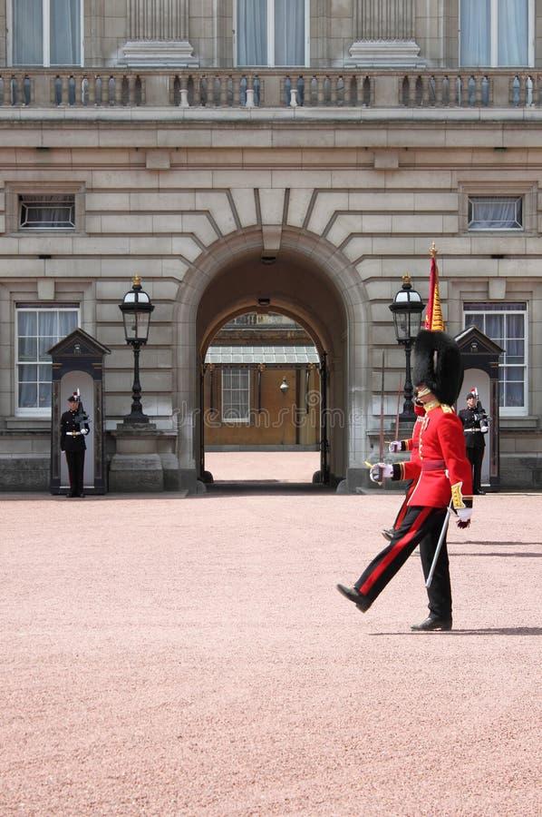 Guard change in Buckingham Palace stock photos