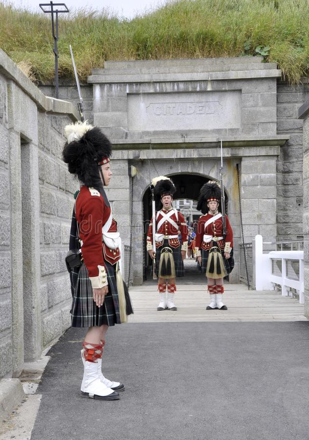 Guard changing royalty free stock photos