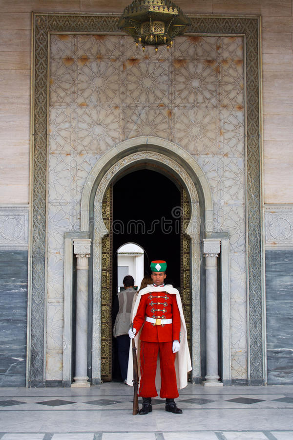 Guard in front of the Mausoleum of Mohamed V