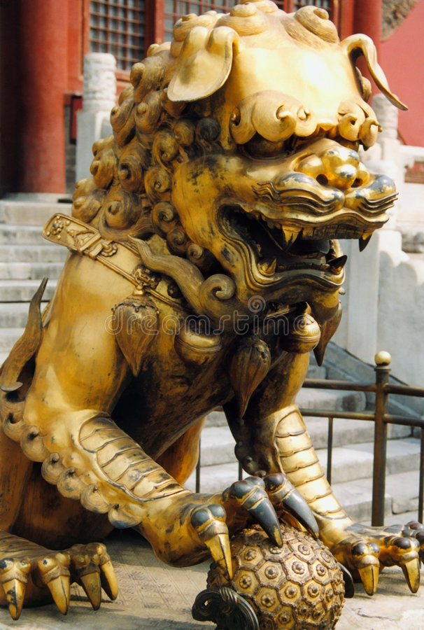 Guard Lion royalty free stock photography