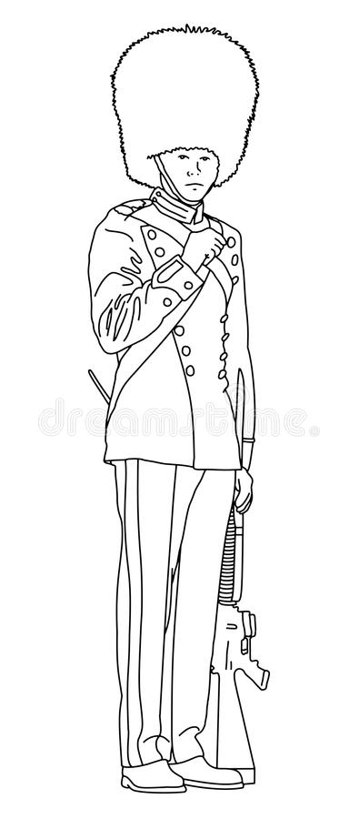 Guard outline royalty free stock photography