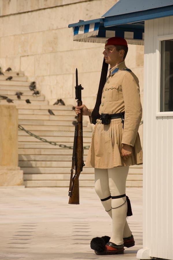 Guard at Parliament Building royalty free stock photos