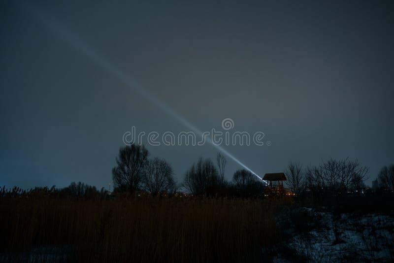 Guard post at night outdoors royalty free stock photo