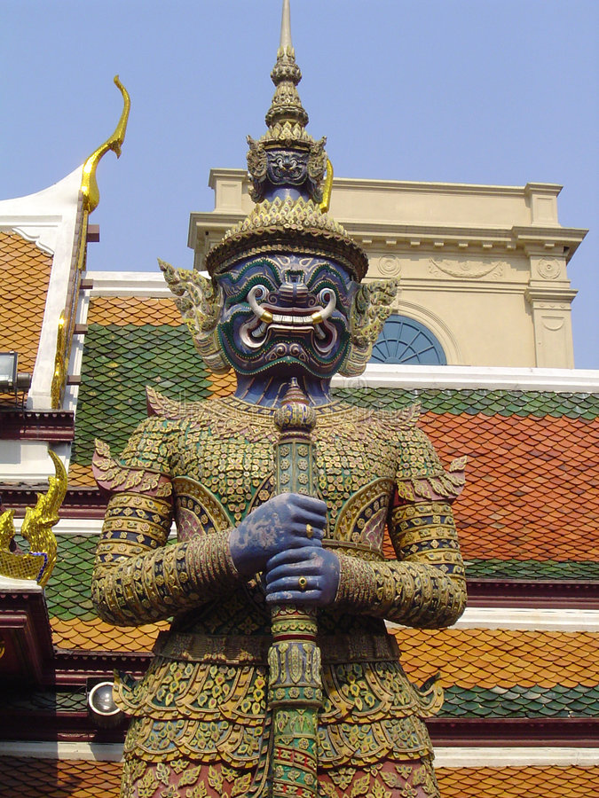 Guard Statue - Grand Palace Royalty Free Stock Images