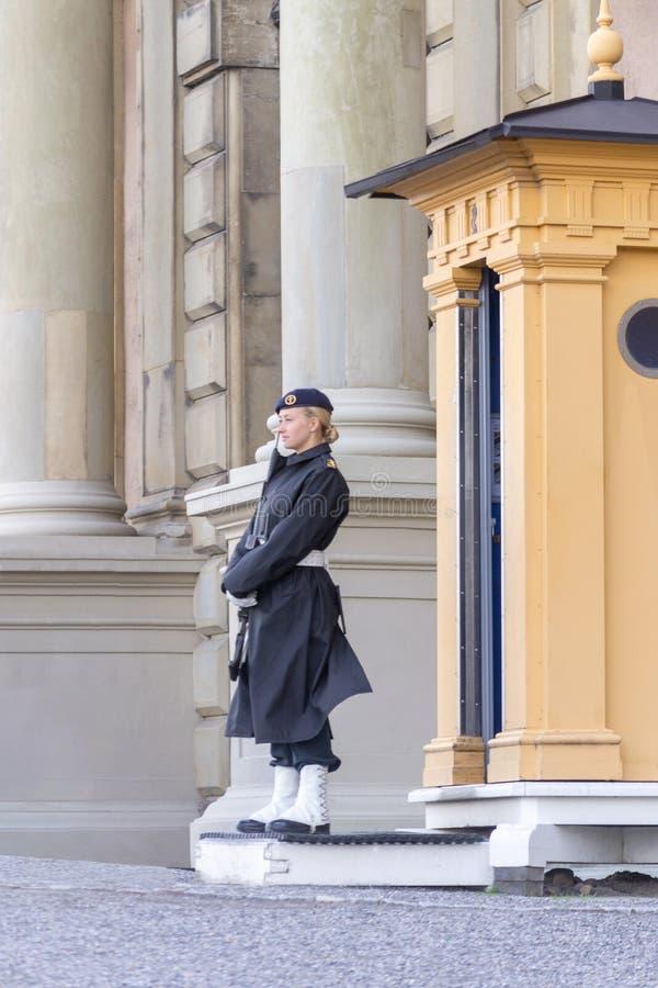 Guard - Stockholm Royal Palace, Sweden stock images