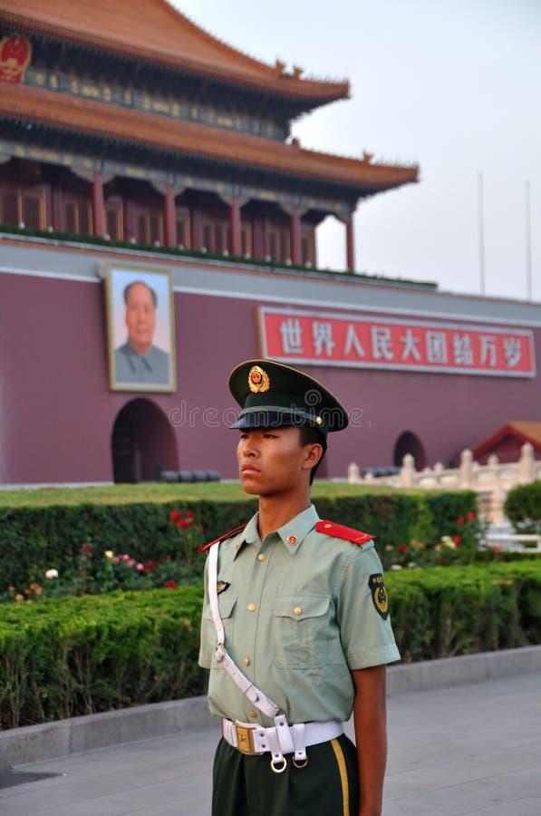 Download Guard at Tiananmen Square editorial photo. Image of tienanmen - 14851261