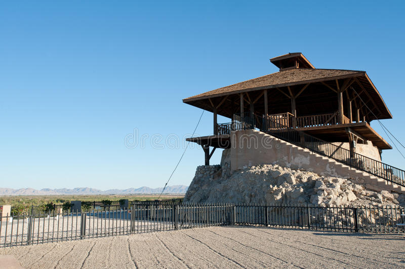 Guard tower. In Yuma territorial prison, Arizona state historic park royalty free stock photography