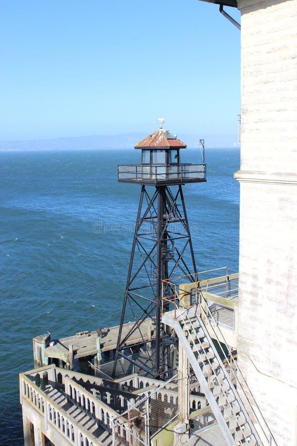 Guard Tower on the Island of Alcatraz. In San Francisco, California stock photo
